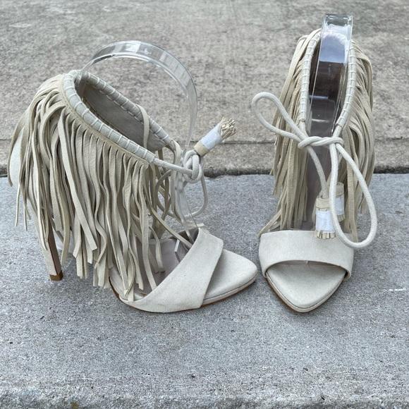 NWT Zara Fringe Sandals Size 5